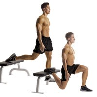 Vertical Split squats