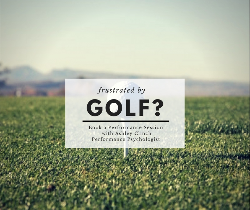 Frustrated by Golf?