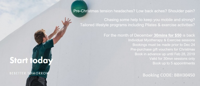 Check out our latest blog and Christmas deals from our Exercise Physiologist Jen Baker