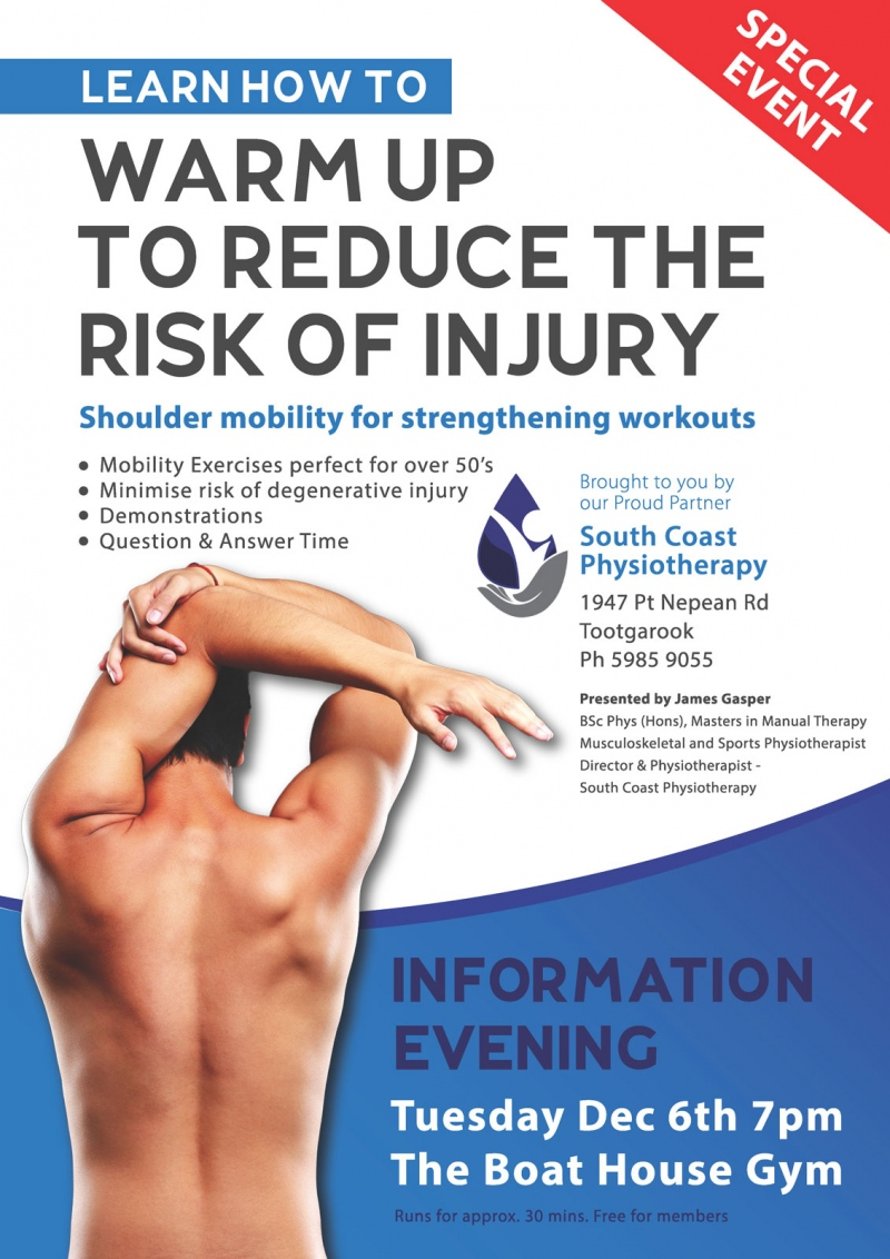 Warm up to reduce risk of Injury